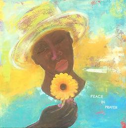 Peace in Prayer - 20x20 - mixed media