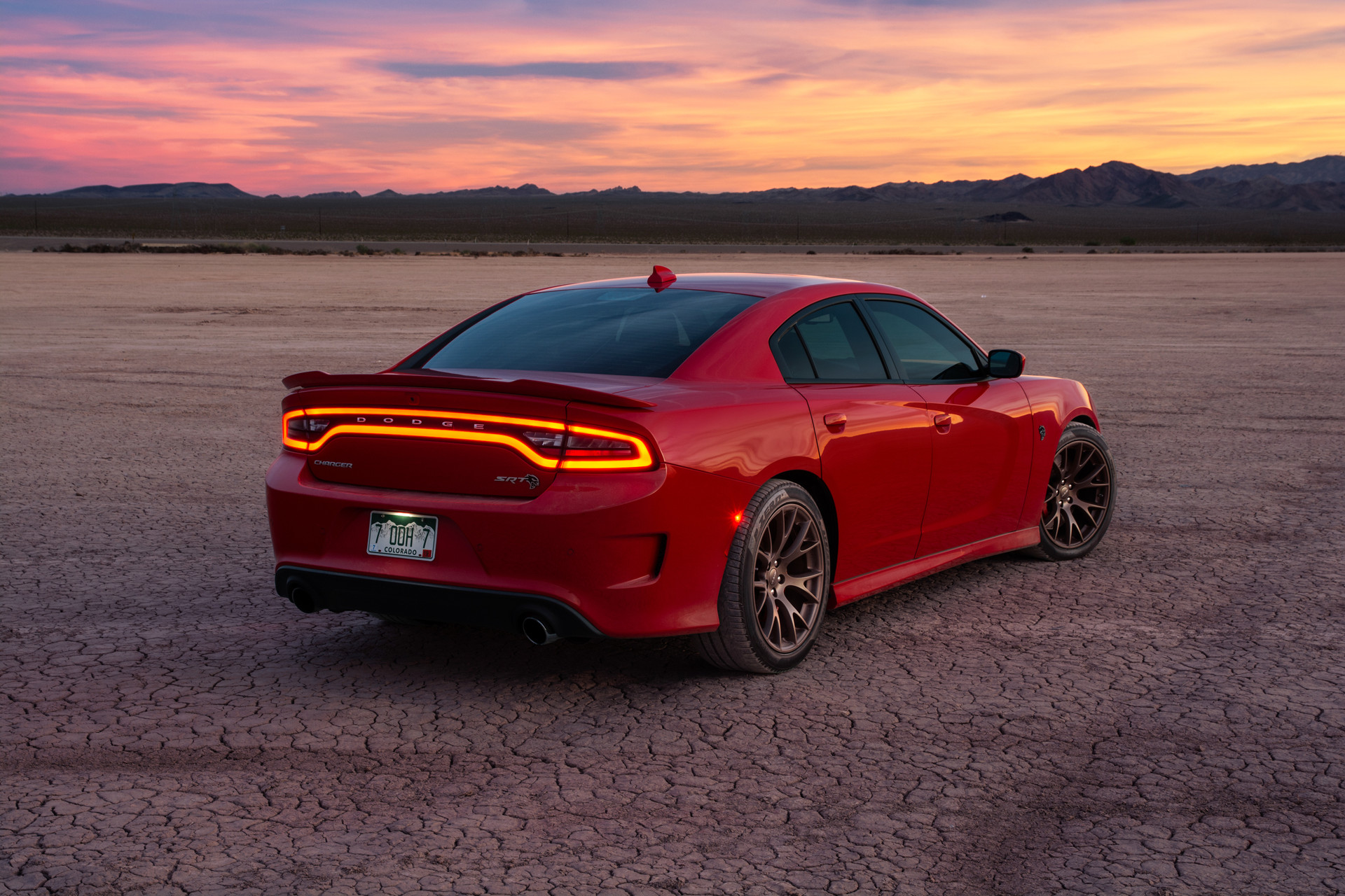 Hellcat Charger Sunset