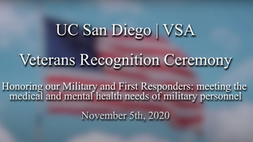 UC San Diego | VSA Veterans Recognition Ceremony