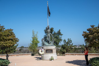 UCSD Veterans Staff Association's 9/11 Memorial Ceremony Wreath displayed at Miramar National Ce