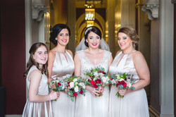 Bride and her maids at St Pancras