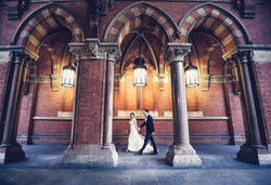 Bride and Groom at St Pancras