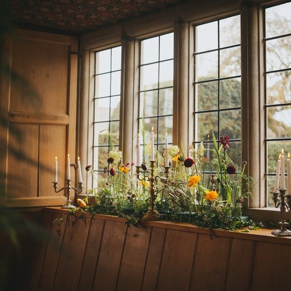 Secret garden windowsill arrangement