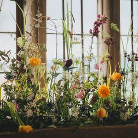 Tulips, ranunculus & meadow foilage