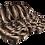 Thumbnail: Dark Brown Striped Faux Fur Throw