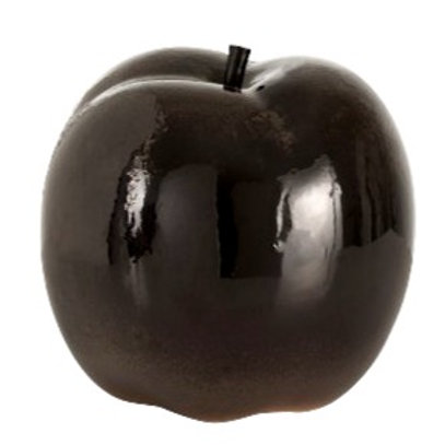 Dark Brown Ceramic Apple