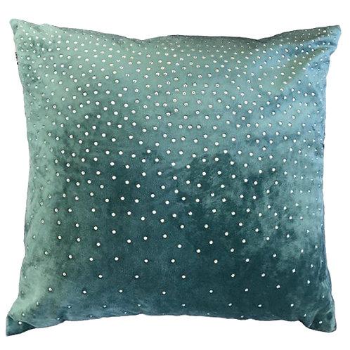 Zircon Teal Velvet Cushion 45x45cm