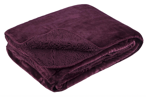 Burgundy super soft throw