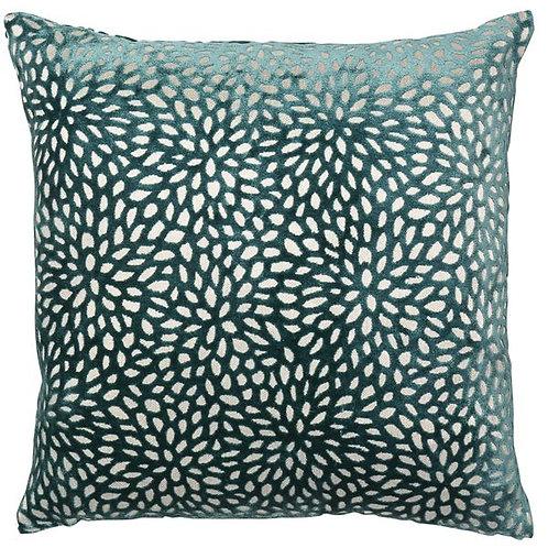 Floral Teal Cushion 56x56cm