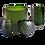 Thumbnail: Green carved cylinder vase