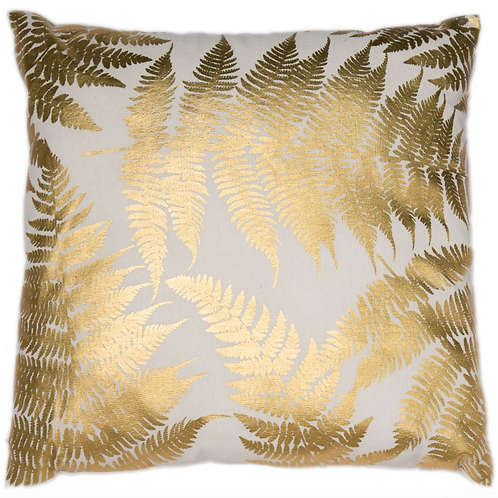 Fern gold cushion 45x45cm