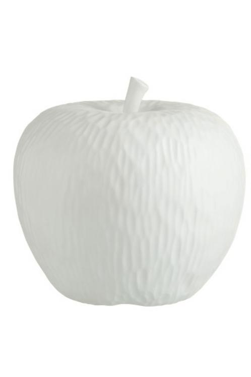 White Apple sculpture