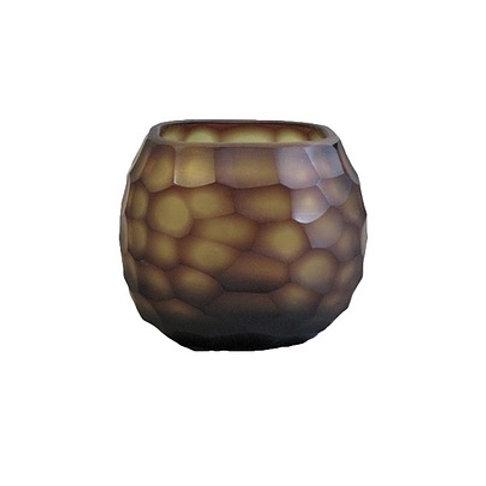 Amber carved glass vase