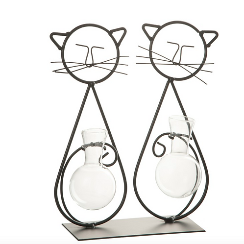 Two cats vase