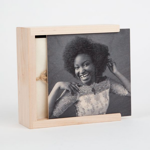 5 x 7 Custom Cover Wood Print Box with Session Prints