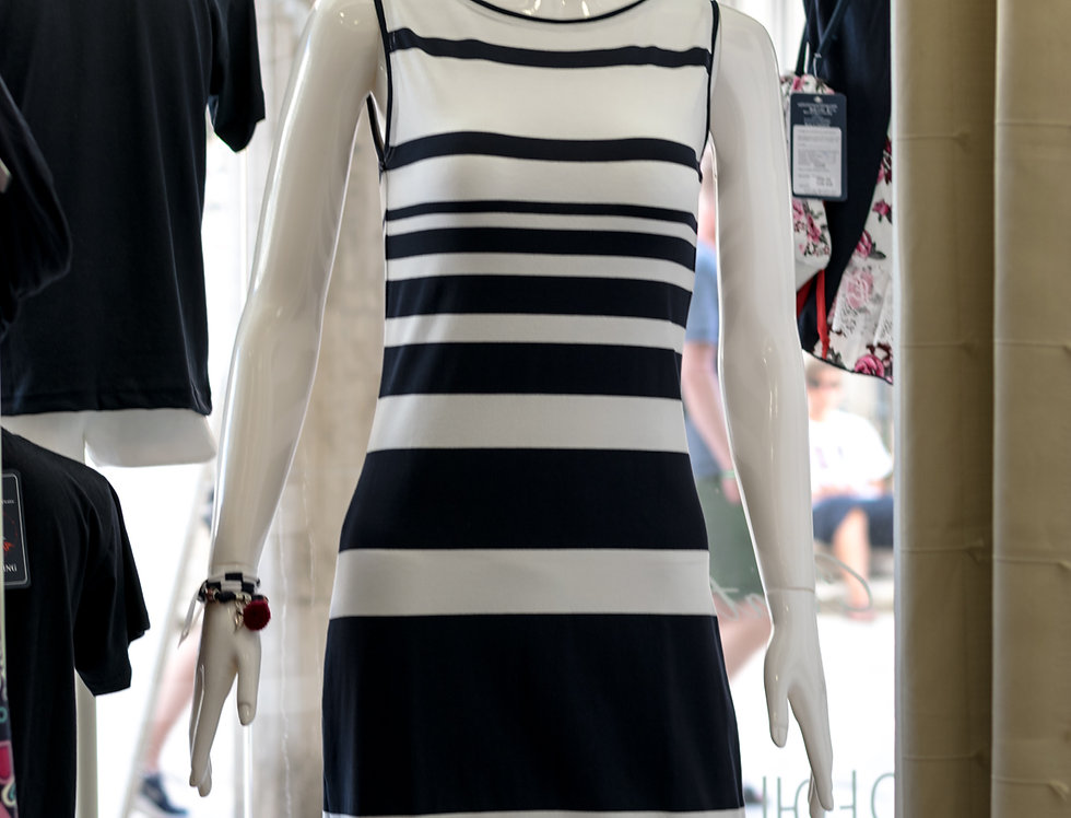 Sleeveless stripe dress Matea