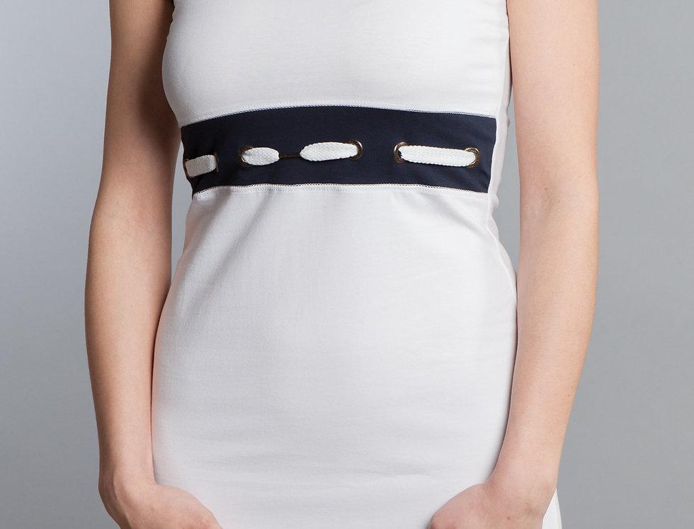 Sleeveless White dress Marine