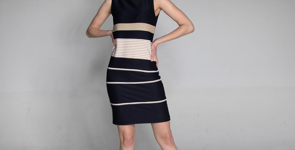 sleeveless stripe dress Jackie