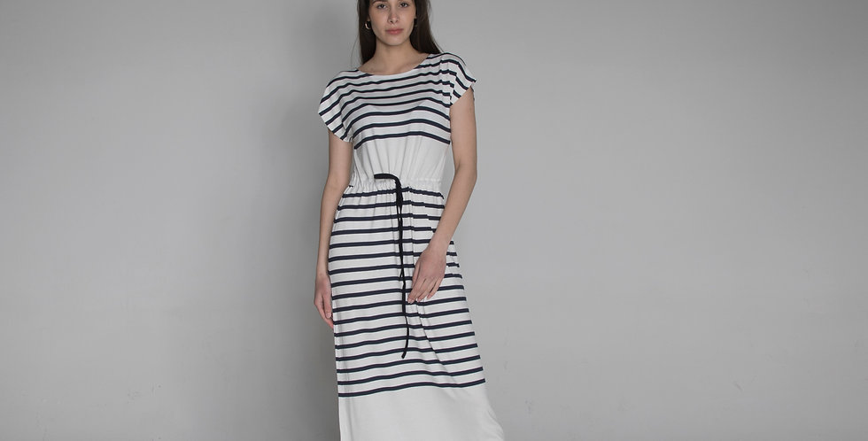 short sleeve stripe dress Marta