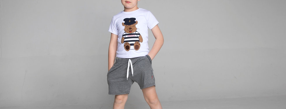 Cotton Jersey Crewneck T-Shirt Teddy