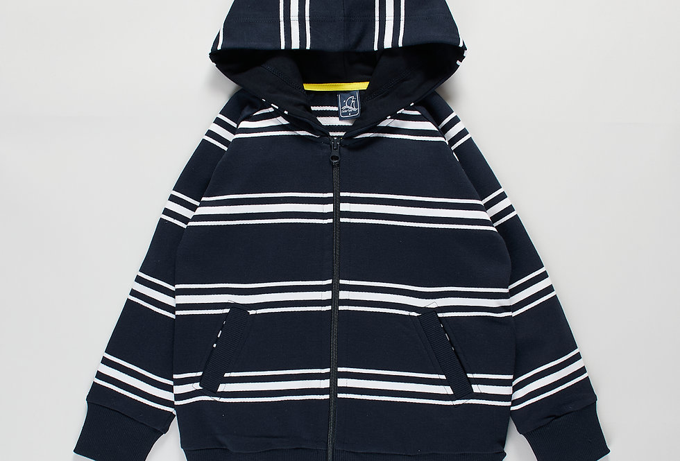 Striped Cotton Hoodie