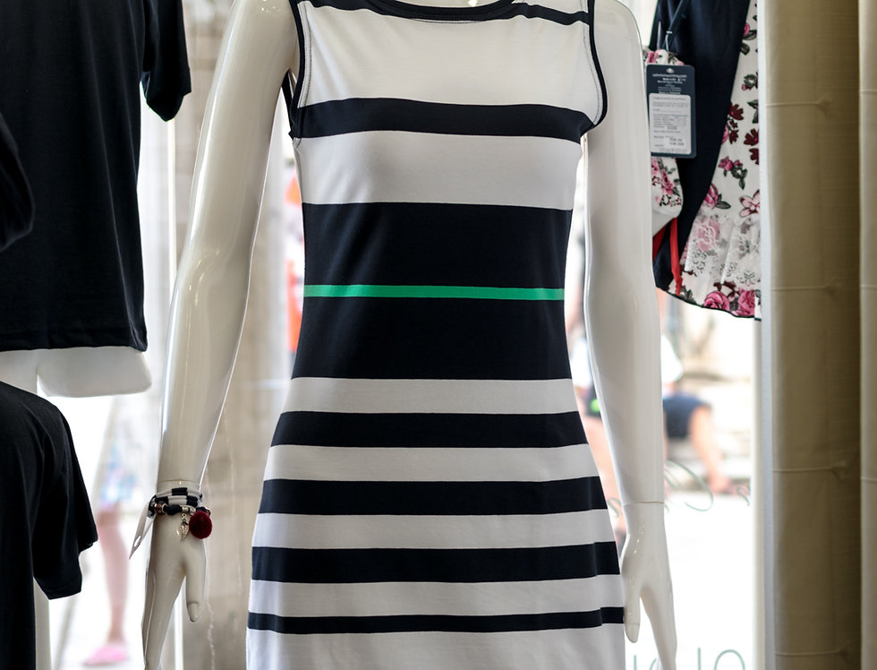 Sleeveless stripe dress Tesa