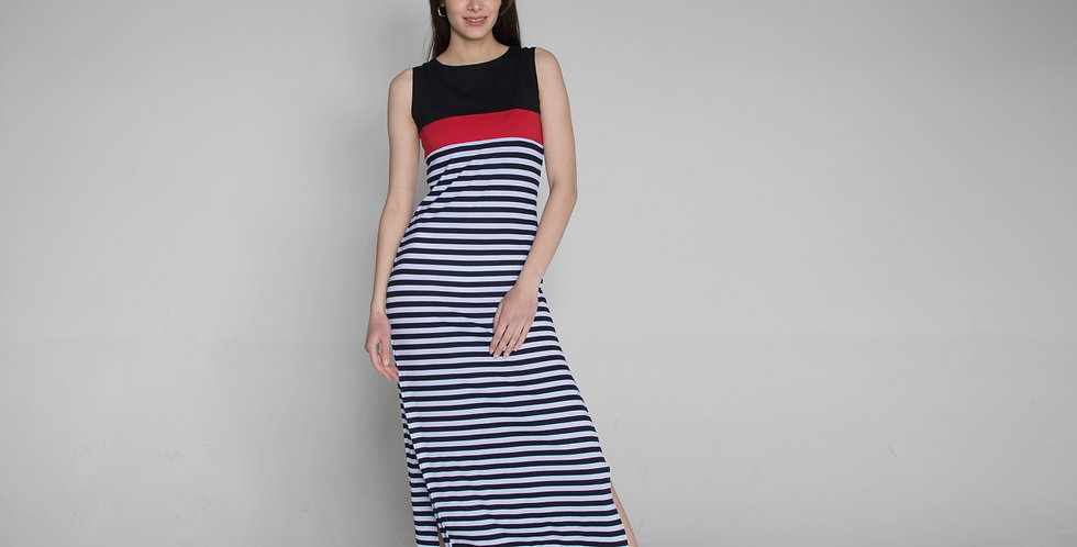 Sleeveless stripe dress Jasna