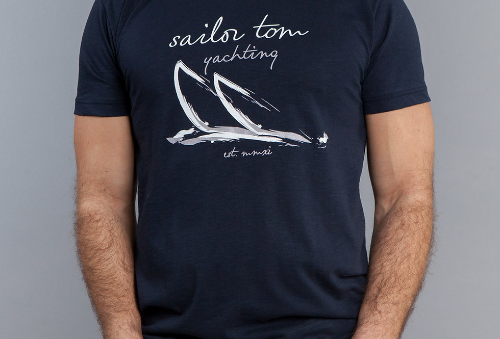 Classic Fit Cotton T-Shirt Sailboats