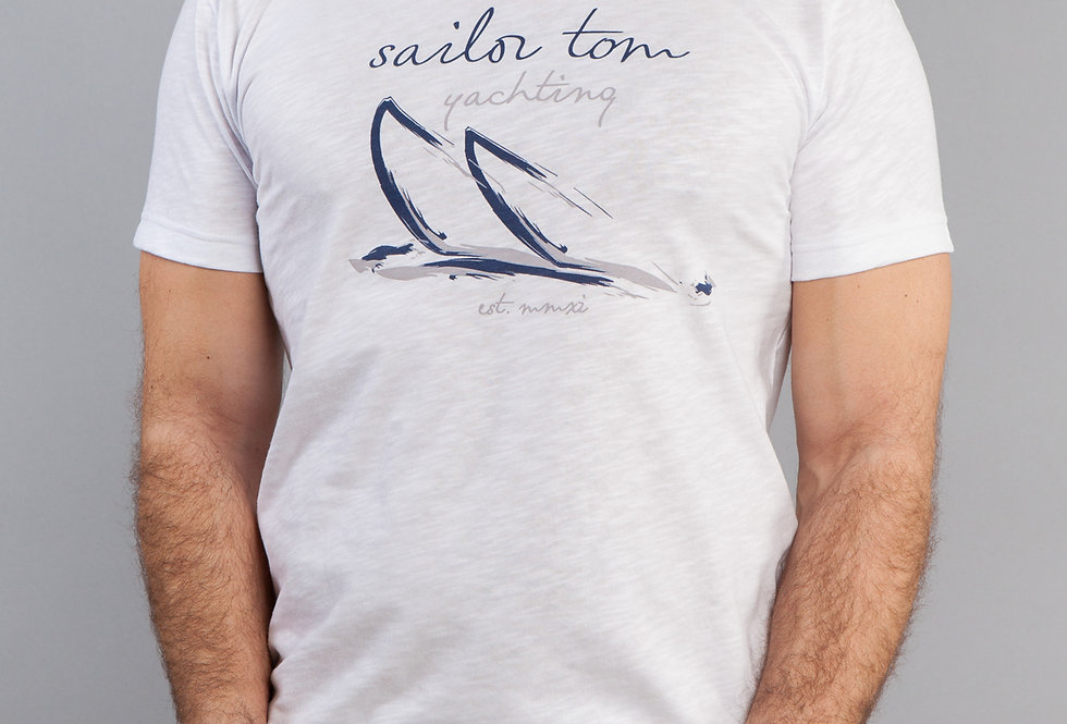 Classic Fit Cotton T-Shirt Sailboats