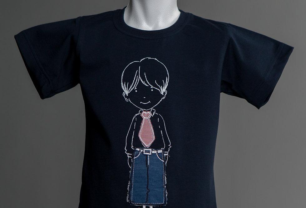 Cotton Jersey Crewneck T-Shirt little boy