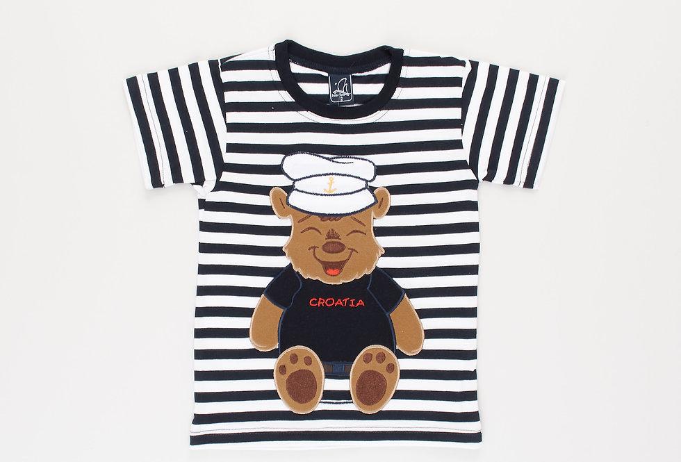 Cotton Jersey Crewneck T-Shirt Teddy