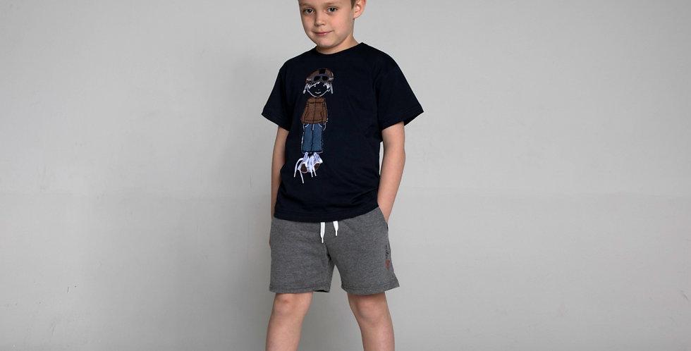 Cotton Jersey Crewneck T-Shirt Moto