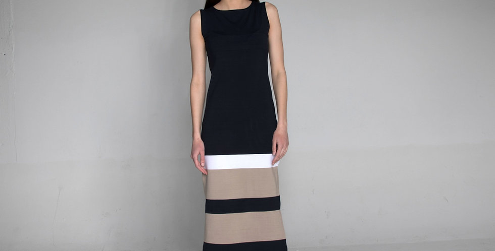 Sleeveless stripe dress Zrina