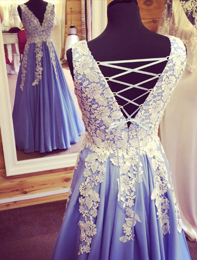 blue dress lace silk back mirror
