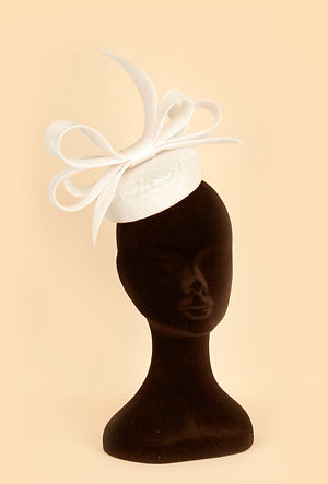 traditional cream weding hat headpiece