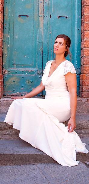 Weddin Dress Blue Door Bespoke