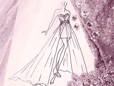 drawing prom dress design