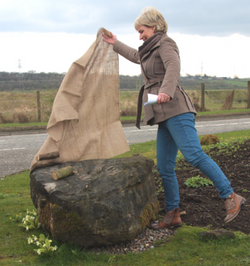 Sally Magnusson Unveiling stone.png