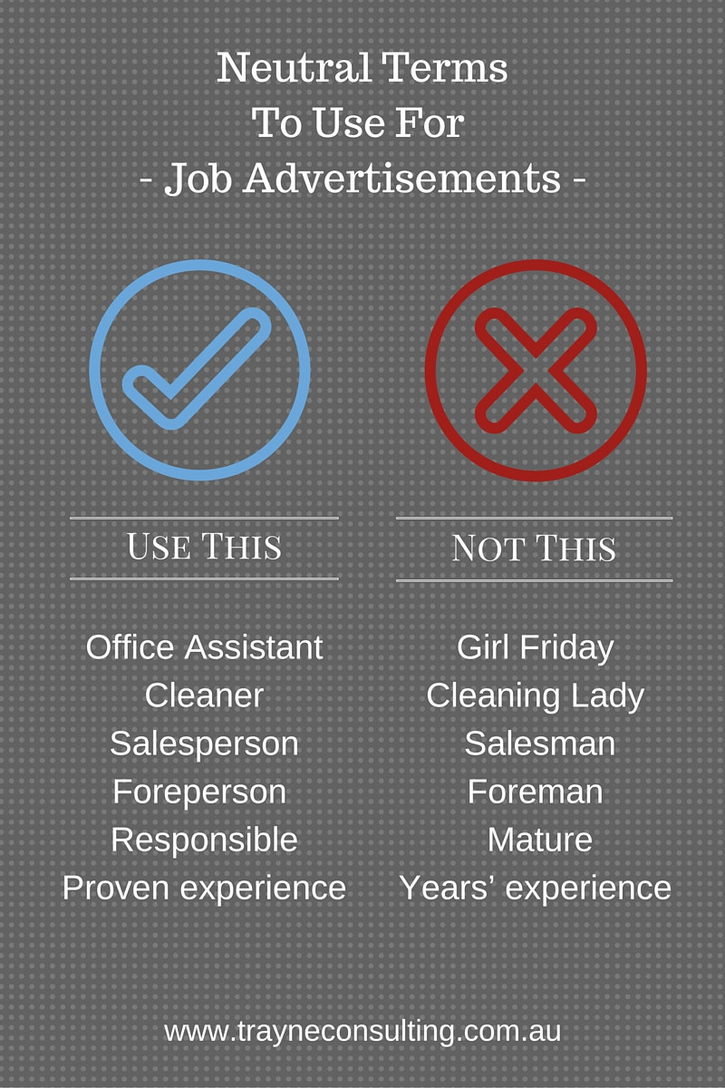 Neutral Terms To Use for Job Advertisements