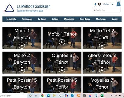 Méthode Sarkissian - Cours de chant - Professeur de chant - Apprendre à chanter