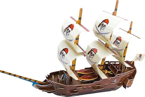 Puzzle 3D bateau de pirates monde marin