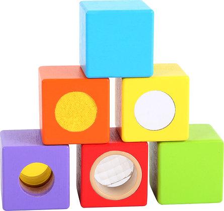 """Cubes en bois """"Petits explorateurs"""""""