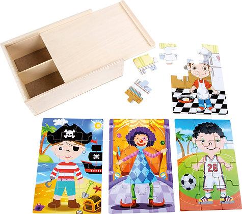 """Boîte de puzzle """"garçons costumés"""