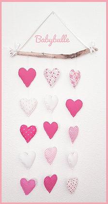 Suspension coeur sur bois flotté