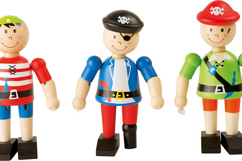 Figurine en bois pirate