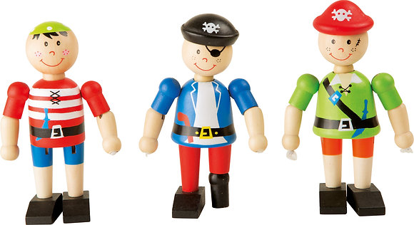 Figurine en bois pirate