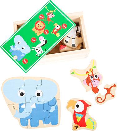 """Boîte de puzzle """"animauxdu zoo"""