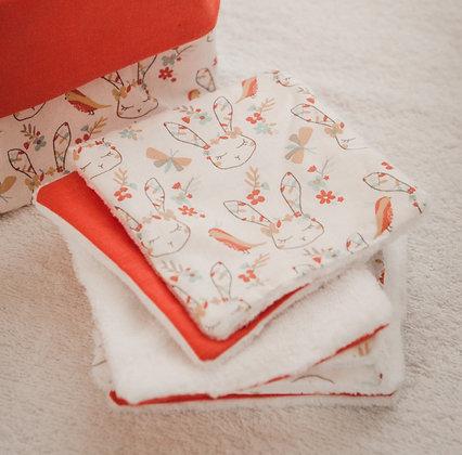 Lingette lavable coton
