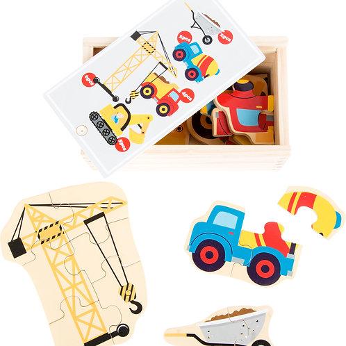 """Boîte de puzzle """"le monde du chantier"""