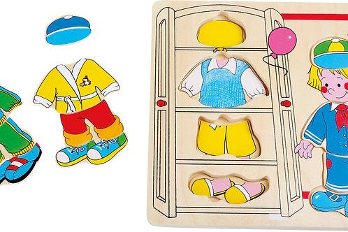 """Puzzle à habiller """"garçon"""""""